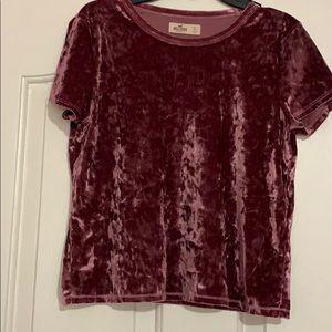 Tops - Hollister shirt leave velvet top